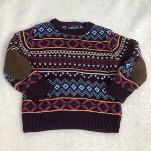 Cherokee infant boy sweater elbow patches 18 month